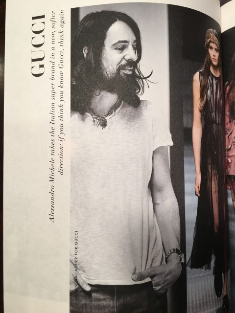 Alessandro Michele of the Gucci fashion house