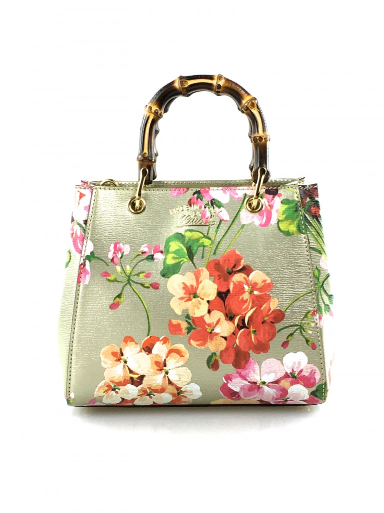 Gucci Mini Blooms Bamboo Tote