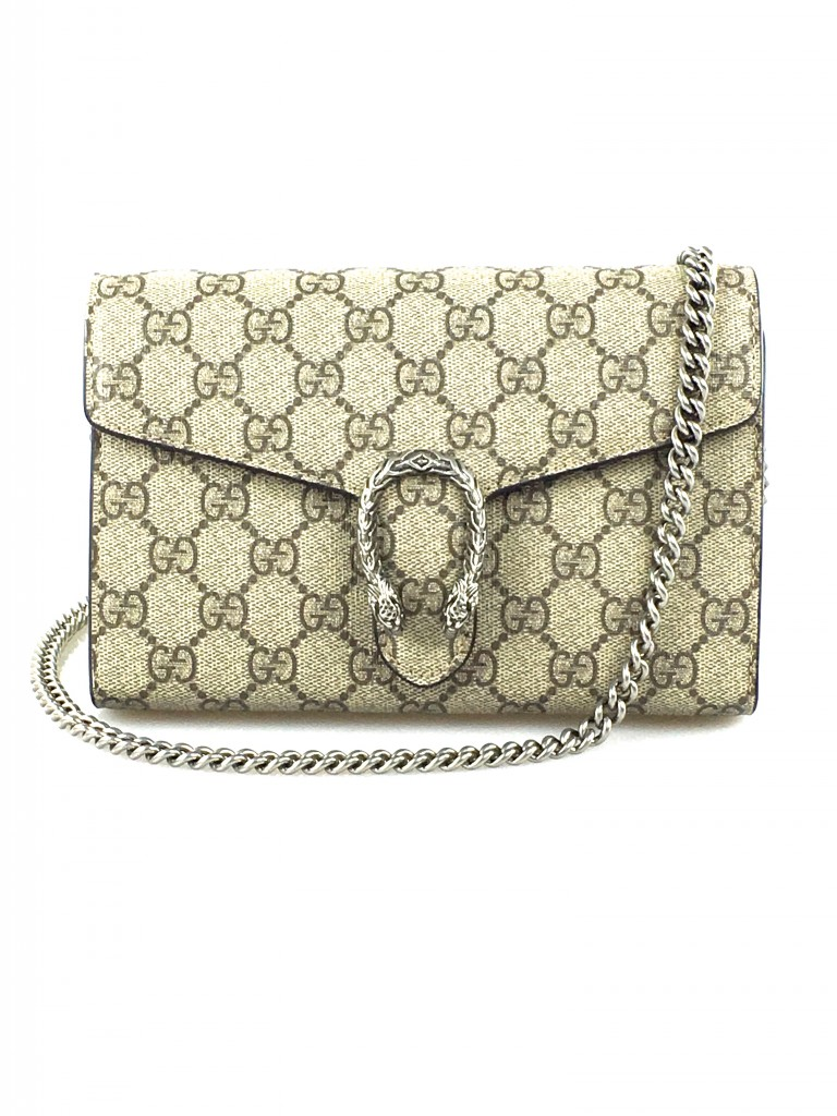 Gucci Dionysus GG Coated Canvas & Leather Shoulder Bag