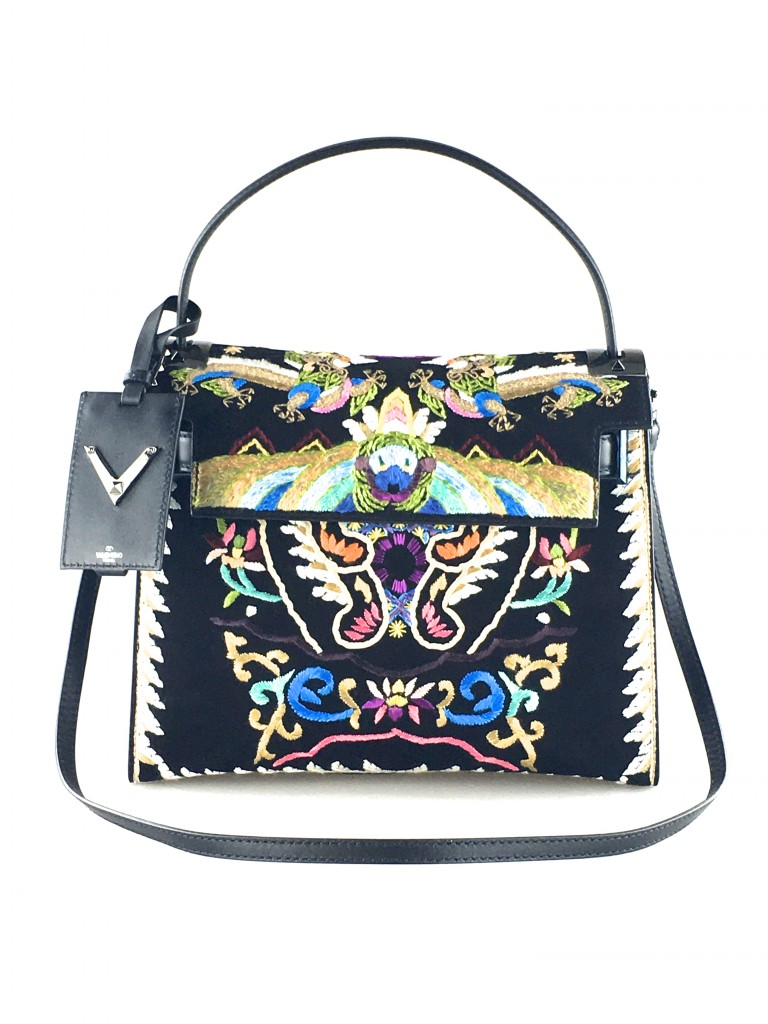 Valentino My Rockstud Dragon Embroidered Shoulder Bag