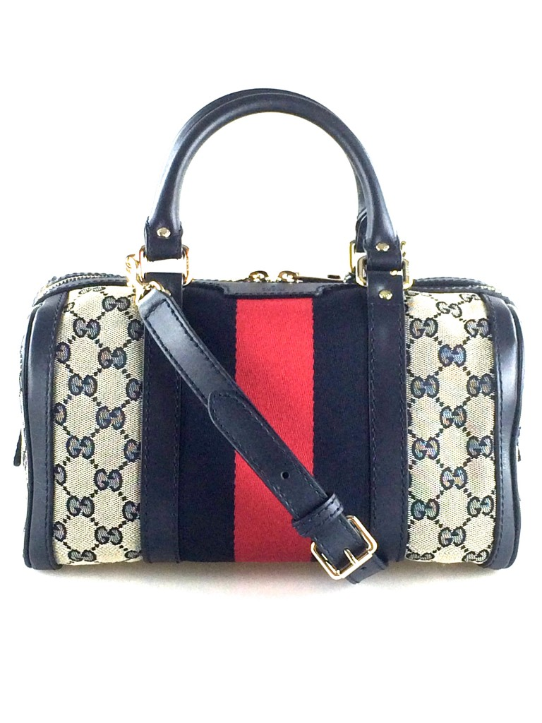 Gucci Mini Vintage Web Original GG Boston Bag