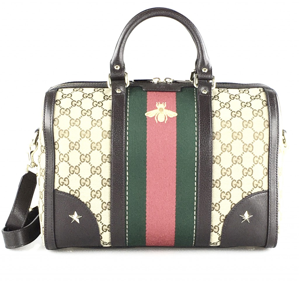 Gucci Vintage Web Bag with Golden Bee