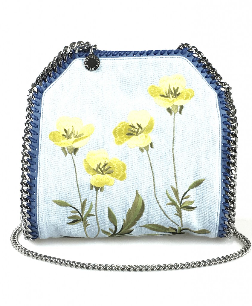 Stelle McCartney Falabella Embroidered Denim Handbag