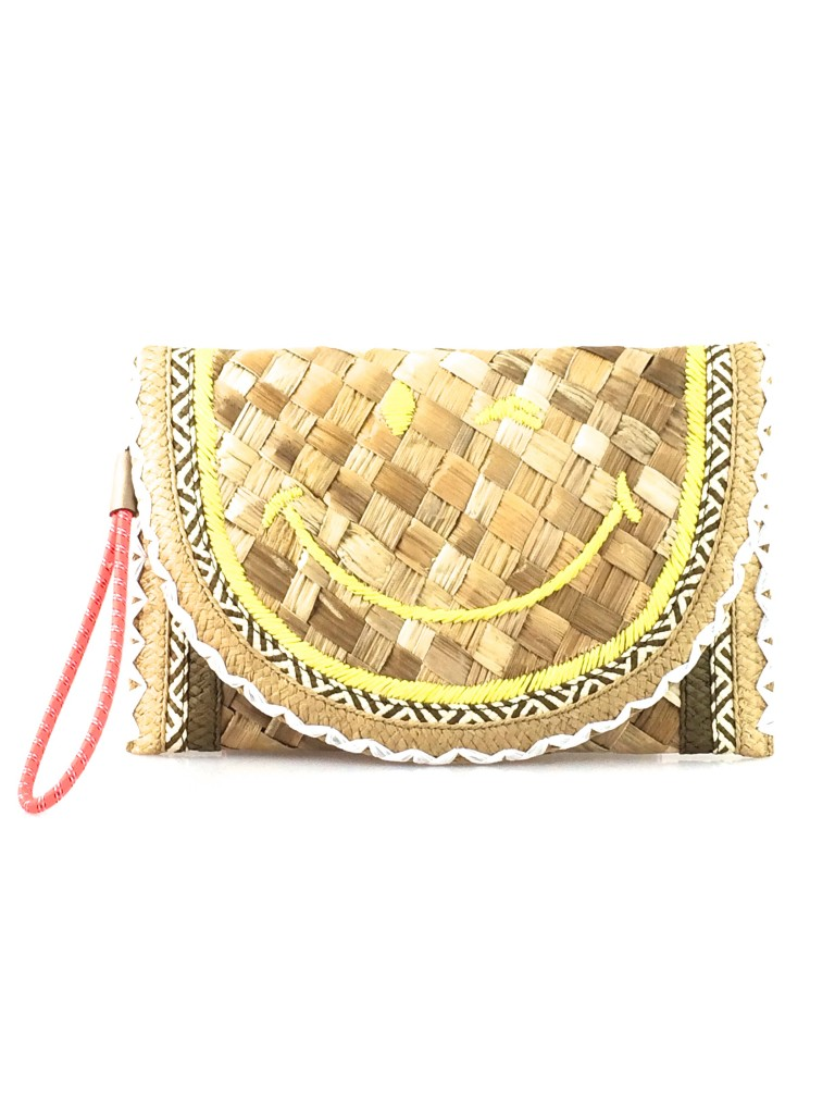 Anya Hindmarch Smiley Winkey Basket Clutch