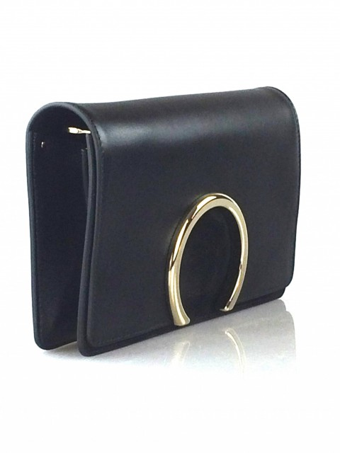 Chloe' Gabrielle Leather & Suede Clutch